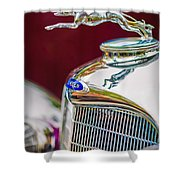 Lincoln Hood Ornament - Grille Emblem -1187c Shower Curtain by Jill Reger