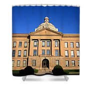 Lincoln Illinois - Courthouse Shower Curtain