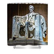 Lincoln In Memorial Shower Curtain