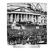 Lincoln Inauguration, 1861 Shower Curtain