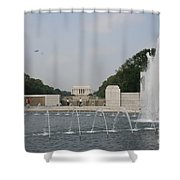 Lincoln Memorial And Fountain - Washington Dc Shower Curtain