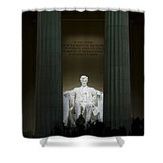Lincoln Memorial At Night Shower Curtain