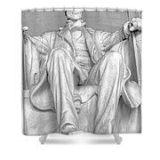 Lincoln Memorial Black/white Hdr Shower Curtain