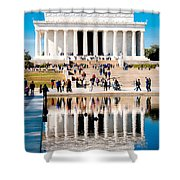 Lincoln Memorial Shower Curtain by Greg Fortier