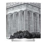Lincoln Memorial Pillars Bw Shower Curtain