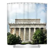 Lincoln Memorial Side View Shower Curtain