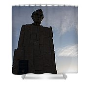 Lincoln Memorial Wyoming Shower Curtain