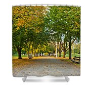 Lincoln Park In Fall Shower Curtain