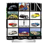 Poster Of Lincoln Cars Shower Curtain