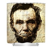 Lincoln Sepia Grunge Shower Curtain