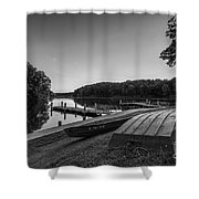 Lincoln Trail State Park Bw Shower Curtain