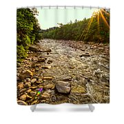 Lincoln Woods Sunstar Shower Curtain