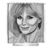 Linda Evans In 1984 Shower Curtain