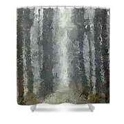 Linden Alley Shower Curtain