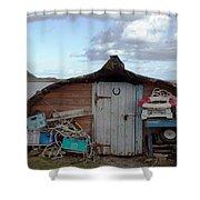Lindisfarne Boat House Holy Island Shower Curtain