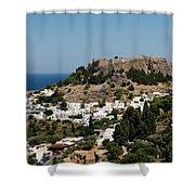 Lindos Acropolis Looking Seaward Shower Curtain