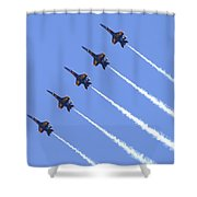 Line Abreast Pass Shower Curtain