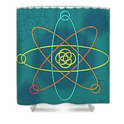 Line Atomic Structure Shower Curtain