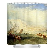 Line Fishing - Off Hastings Shower Curtain