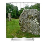 Line Of Avebury Stones Shower Curtain