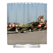 Line-up Of Hellenic Air Force T-2 Shower Curtain