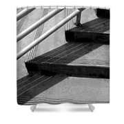 Linear In Four Four Time Shower Curtain