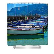 Lined Up Fleet In Sicily Shower Curtain