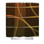 Lines And Shadows Shower Curtain