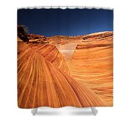 Lines In Sandstone Shower Curtain