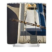 Lines Of Civilization Shower Curtain