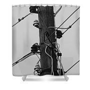Lines Of Communication  Shower Curtain