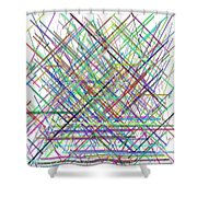 Lines.3 Shower Curtain