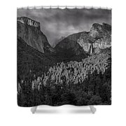 Lingering Shadows In Grey Shower Curtain