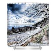 Linn Cove Viaduct Winter Scenery Shower Curtain