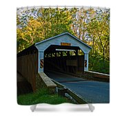 Linton Stevens Covered Bridge Shower Curtain