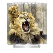 Lion 15 Shower Curtain