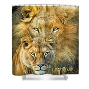 Lion And Lioness- African Royalty Shower Curtain
