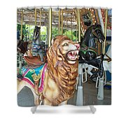 Lion At Liberty Shower Curtain