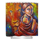 Lion Covering Shower Curtain
