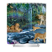 Lion Falls Shower Curtain