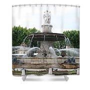 Lion Fountain - Aix En Provence Shower Curtain