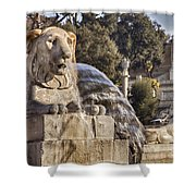 Lion Fountain In Rome Italy Shower Curtain