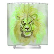 Lion Green Shower Curtain