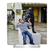 Lion Hearted Shower Curtain