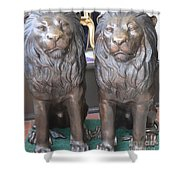 Lion Hearted Share Shower Curtain