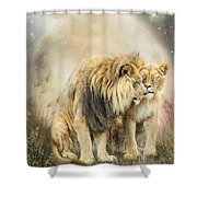 Lion Kiss Shower Curtain