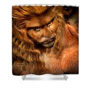 Lion Man Shower Curtain