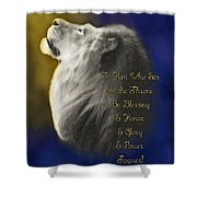 Lion Adoration Shower Curtain
