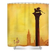 Lion Of San Marco Sunset Shower Curtain