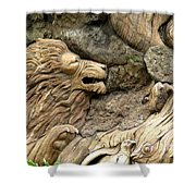 Lion On The Tree Of  Life Shower Curtain